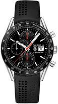TAG Heuer Men's Automatic Chronograph Calibre 16 Black Rubber Strap Watch 41mm CV201AK.FT6040