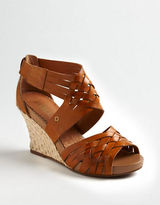 CLARKS Sky Pocomo Leather Wedge Sandals