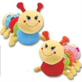 "Kurt Geiger K&G 15"" Plush CATERPILLAR Rattle - INFANT - Baby Shower GIFT - KEEPSAKE Crib TOY"