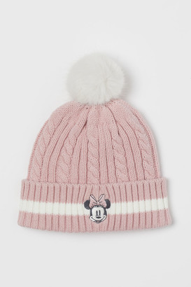 H&M Cable-knit Hat - Pink