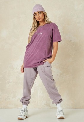 Missguided Tall Wine Oversized T Shirt