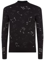 Saint Laurent Lurex Music Notes Sweater