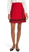 Kate Spade Women's Pom Embroidered Skirt