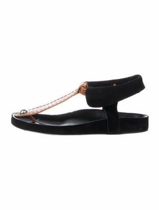 Isabel Marant Suede T-Strap Sandals Black