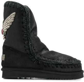 Mou Eskimo crystal embellished boots