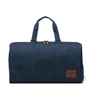Herschel Novel Duffle Bag Indigo Denim Crosshatch