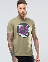 Paul Smith PS by T-Shirt With Large PS Print In Khaki