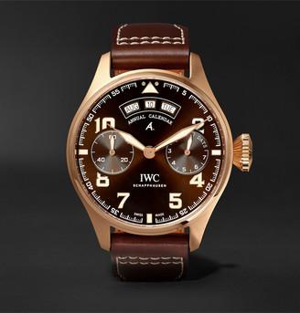 IWC SCHAFFHAUSEN Big Pilot's Antoine De Saint-Exupery 46mm 18-Karat Red Gold And Leather Watch, Ref. No. Iw502706