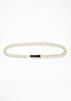 Bebe Chain & Stud Jewel Buckle Belt