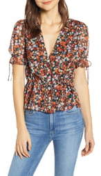 The East Order Arlo Floral Print Blouse