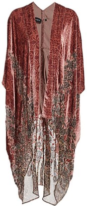 The Kooples Velvet Burnout Kimono