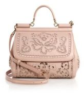 Dolce & Gabbana Sicily Medium Embroidered Top-Handle Satchel