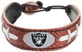 GameWear Oakland Raiders Leather Football Bracelet