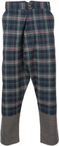 Vivienne Westwood Man drop-crotch check trousers