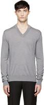 Dolce & Gabbana Grey V-neck Sweater