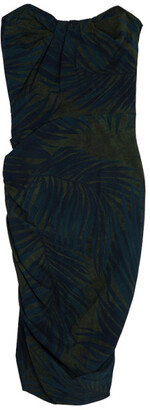 Lanvin Palm Leaf Print Cocktail Dress S