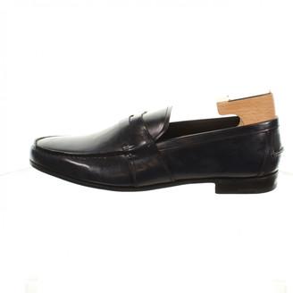 Prada Navy Leather Sandals
