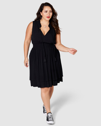 Sunday In The City - Women's Black Midi Dresses - Landslide Midi Dress - Size One Size, 10 at The Iconic