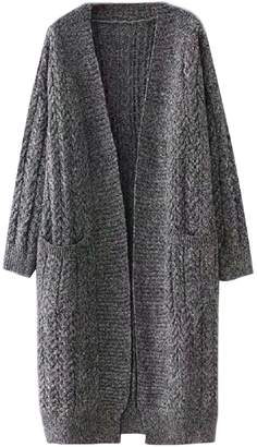 Goodnight Macaroon 'Aada' Knitted Long Open Front Cardigan (2 Colors)