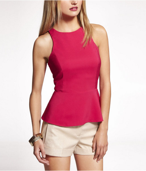 Express Peplum Shell Top