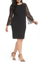 Alex Evenings Plus Size Women's Bell Sleeve Shift Dress