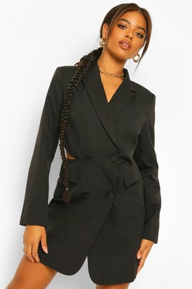 boohoo Tailored Cut Out Back Blazer Dress