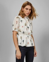 Ted Baker MARISIA Oracle short sleeved blouse