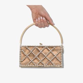 Rosantica gold tone Garofono crystal bracelet bag