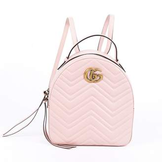 Gucci GG Running Pink Leather Backpacks