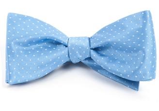 Tie Bar Mini Dots Light Blue Bow Tie
