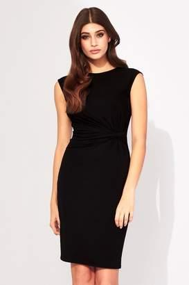Lipsy Sleeveless Ruched Jersey Dress - 10 - Black