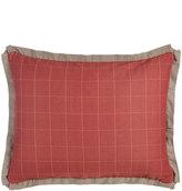 French Laundry Home Standard Kent Wood Red Windowpane Plaid Sham