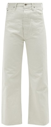 Chimala High-rise Selvedge-denim Straight-leg Jeans - Womens - Ivory