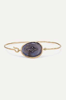 Pascale Monvoisin Garance N2 9-karat Rose Gold, Sterling Silver, Labradorite And Diamond Bracelet