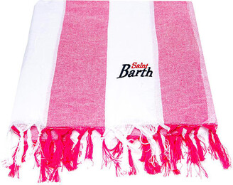 MC2 Saint Barth Fluo Pink Big Striped Ultralight Cotton Towel