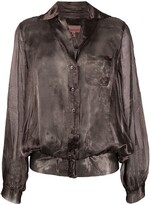 Romeo Gigli Pre Owned 1990s metallic sheer blouse