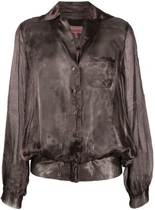 Romeo Gigli Pre-Owned 1990s Metallic Sheer Blouse