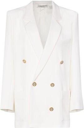 Alessandra Rich Double-Breasted Blazer Jacket