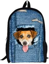 Nw 3D Animal Print Cat Dog Backpack Studnt School Collg Shouldr Bags by XILALU