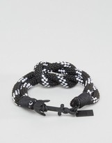 ICON BRAND Stripe Anchor Woven Bracelet