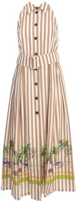 Erika Cavallini Muriel Dress American Neck W/stripes And Print