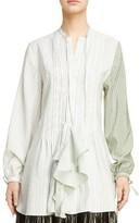 J.W.Anderson Women's Pintuck Ruffle Silk Tunic
