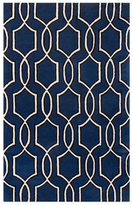 Trellis, Chain and Tile Pattern Hand-Tufted Wool Rug