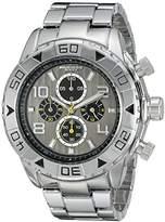 Akribos XXIV Men's AK814SSB Chronograph Quartz Movement Watch with Silver Dial and Bracelet