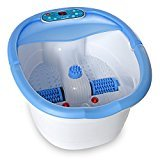 Ivation Multifunction Foot Spa - Heated Bath with Vibration, Rollers, Bubble Massage & Aromatherapy - Digital Temperature Control LED Display - Includes 3 Pedicure Attachments