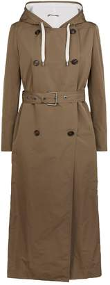 Brunello Cucinelli Belted Hooded Coat