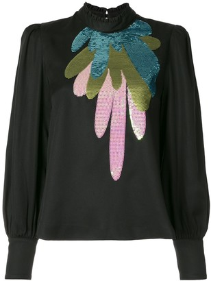 Cynthia Rowley Candice sequinned blouse