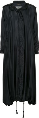 Alberta Ferretti Hooded Long Raincoat