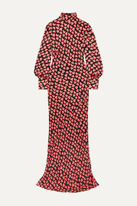 Rebecca Vallance Hotel Beau Tie-detailed Printed Crepe Maxi Dress - Red