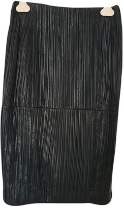 Trussardi Black Leather Skirt for Women